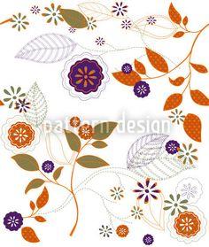 Autumn Flowers designed by Katrin Kristjansdottir available on patterndesigns.com
