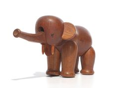 the Oak Elephant by Kay Bojesen | From a unique collection of antique and modern carvings at http://www.1stdibs.com/furniture/more-furniture-collectibles/carvings/