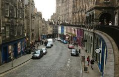 The steep, curving Victoria Street, from the terrace above. Photo: Alexa van Sickle