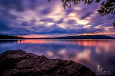 Don't you just love #Maine sunsets! Photo Moosehead Lake. By A G Evans Photography