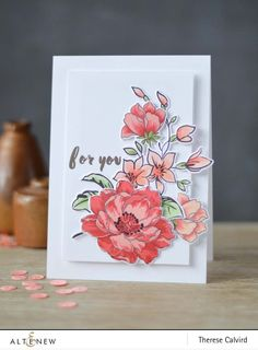 What more better ways to show our love for mothers? With hand-drawn floral images, elegant sentiments and handwritten words, this stamp set has perfect elements to create beautiful cards for mothers a