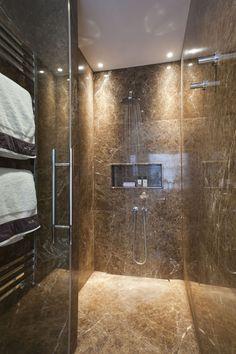 Apartment Bathroom Lighting Shelves 67 Ideas For 2019 Cheap Bathroom Tiles, Modern Bathroom Tile, Bathroom Tile Designs, Bathroom Design Small, Simple Bathroom, Bathroom Interior, Master Bathroom, Brown Bathroom, Shower Lighting