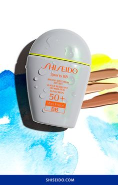 Summer workouts made easy: #makeup coverage and SPF 50+ in one bottle. Discover #Shiseido's Sports BB SPF 50+ with WetForce technology. #ShiseidoSun #Suncare #SummerSkincare #SunProtection #SweatproofMakeup #makeup #skincare #athleisure #spf #sunscreen #BBCream