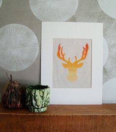 Ombre Deer Head Silhouette PDF Cross Stitch Pattern