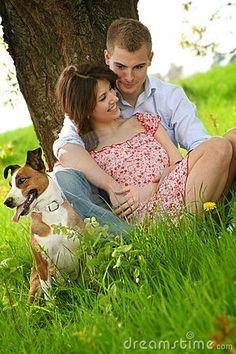 Clara, her husband Mitch, and their dog Banjo. Clara has been at the rescue since the beginning with Marius.