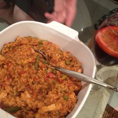 Your Inspiration at Home Paella. Another group effort by the 7 Consultants at Bootcamp, led CEO, Colleen. Home Recipes, Real Food Recipes, Chicken Recipes, Cooking Recipes, What's Cooking, Natural Spice, Cheap Meals, What To Cook, Recipe Using
