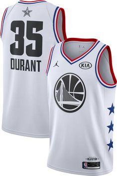 Jordan Men s 2019 NBA All-Star Game Kevin Durant White Dri-FIT Swingman  Jersey b8653dfa6