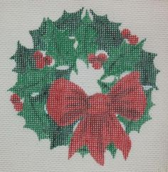 Kate Dickerson holly wreath ornament
