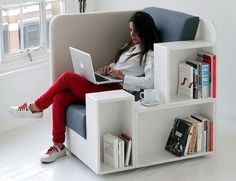 1-Chair with bookshelves