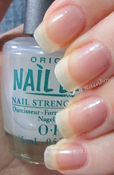 This stuff is amazing!!!  I sell it at work, but I was a believer long before then.  I had gel nails for about 3 years, and by the time I decided to get rid of them, my Nail Envy by OPI (two coats, then every second day, add one more coat.  At the end of the week, remove it all and start again with two coats).