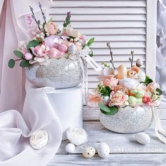 Beautiful Flower Arrangements, Beautiful Flowers, Egg Art, Ikebana, Door Wreaths, Lily, Valentines, Origami, Table Decorations