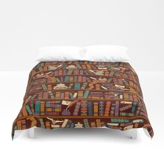 Buy Bookshelf Duvet Cover by risarodil. Worldwide shipping available at Society6.com. Just one of millions of high quality products available.