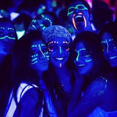 Blacklight face paint