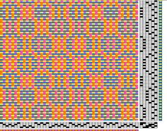 overshot weave pattern