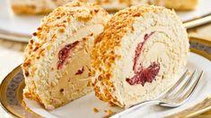 Oriešková roláda s mascarpone a višňovým džemom | Recepty.sk Un Cake, Vanilla Cake, French Toast, Sandwiches, Ice Cream, Cheese, Breakfast, Desserts, Mascarpone