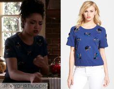 Chasing Life: Season 2 Episode 8 Beth's Blue Embellished Top