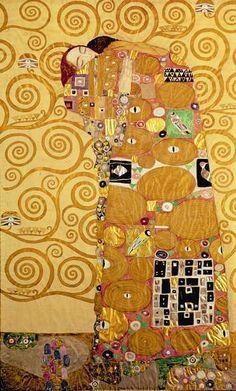 Gustav Klimt, Il Compimento (particolare del fregio per Palazzo Stoclet), 1905-1909, Vienna, Österreichische Galerie Belvedere, Schloss Belvedere