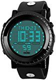 #9: Fanmis Men's Digital Electronic LED Sports Watch Multifuntional 24H Military Time Quartz Waterproof Casual LED Back Light with Simple Large Numbers 164ft 50M Water Resistant Calendar Day and Date Alarm Stopwatch - Black | http://ift.tt/2cl82Sl shares men Watches collection #Get #men #watches #fashion