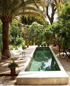 Outdoor Spaces, Outdoor Living, Outdoor Decor, Outdoor Pool, Outdoor Furniture, Kleiner Pool Design, Patio Interior, Dream Pools, Beautiful Pools