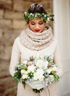 Braut Überwurf zur Hochzeit im Herbst & Winter, der warm hält