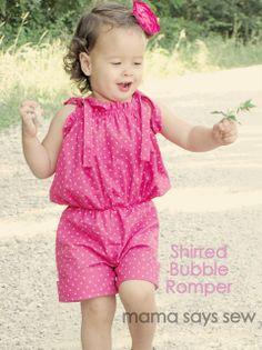 mama says sew: Shirred Bubble Romper Tutorial