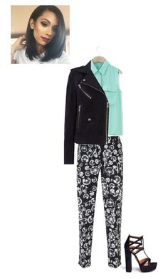 """Edgy Cute"" by loveisforever32 ❤ liked on Polyvore featuring Chicwish, Mint Velvet, Oui and Aquazzura"