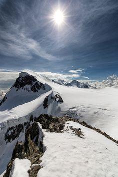 ~~The Breithorn ~ view from the Klein Matterhorn, Switzerland by Oliver C Wright~~