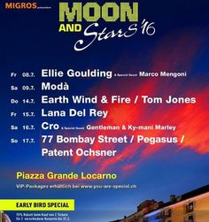 #moonandstars in #Locarno - line up 2016
