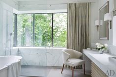 Contemporary Bathroom by McAlpine Booth & Ferrier Interiors and DA AD in Nashville, Tennessee