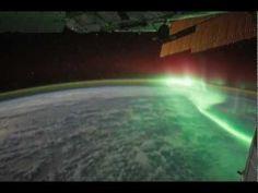 Revontulet avaruudesta katsottuna - revontulet kansainväliseltä avaruusasemalta kuvattuna - NASA:n kuvaamina
