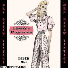 Lingerie Patterns | Mrs Depew Vintage