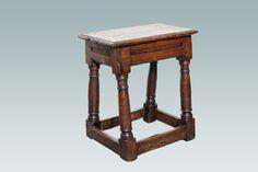 17th century stool, Marhamchurch antiques