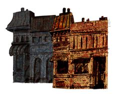 City Streets - Concept for Les Miserables city street flats.