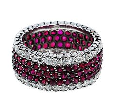 18kt White Gold Diamond and Ruby Ring (1.60 ct. tw.)