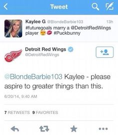 BEST EVER!!! No real hockey player wants a puck bunny let alone a team!