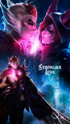 Fondo Xayah - Rakan [League of Legends] by Ginkochan-ediciones