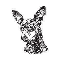 Miniature Pinscher Mosiac Art Print by Juli - X-Small Pincher Dog, Min Pins, Miniature Pinscher, Buy Frames, Printing Process, Cute Art, Gallery Wall, Miniatures, Art Prints