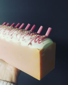 Cherry Milkshake Soap. You find more soaps and products from here: www.instagram.com/solbackadesign. Handmade Soaps, Milkshake, Cheesecake, Cherry, Desserts, Instagram, Ideas, Food, Design