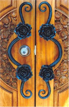 This blacksmith is in Australia.  Look at those door pulls! Wow! Forget Home Depot!