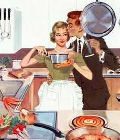 Cooking together is fun! - Add wine, and loud music, and you have a typical night at my house.