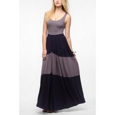 Urban Outfitters Silence & Noise Knit Jersey Maxi NWOT UO Silence & Noise Knit Jersey Stripe Maxi - Purple Multi Urban Outfitters Dresses Maxi