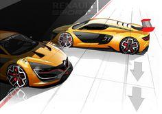 Discover the #design birth of the #Renault Sport R.S. 01 - (c) Renault Design - Droits réservés