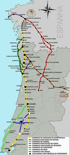 Portugese Roads – Famous Last Words Camino Routes, Camino Portuguese, The Camino, Camino Trail, Walking Holiday, Living In Europe, Destination Voyage, Spain And Portugal, Roadtrip