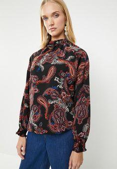 ab6faf664db Elasticated hi neck blouse - paisley Superbalist Blouses