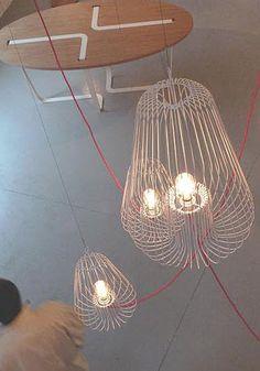 Lámparas de alambre  #Iluminación  #Lighting
