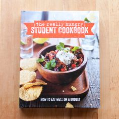 If you're a student living on your own for the first time, strapped for both time and cash, how do you go about feeding yourself a decent meal? Here is a whole cookbook dedicated to answering that very question! The Really Hungry Student Cookbook has page after page of meal ideas, all of which can be made with a minimally-stocked kitchen, a few bucks, and the willingness to take a study break to make yourself some good food.