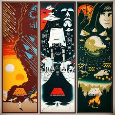 Artist Eric Tan has created this super cool set of Star Wars trilogy art
