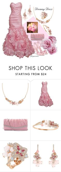 """Dreamy Dress #3"" by florymcintee ❤ liked on Polyvore featuring Chaumet, Monique Lhuillier and Sophia Webster"
