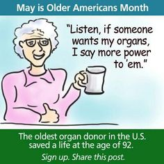:-) Fact: There is no age limit to be able to donate organs! Chronic Migraines, Chronic Kidney Disease, Donation Quotes, Living Kidney Donor, Hernia Repair, Organ Transplant, Organ Donation, Kidney Health, Dialysis