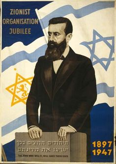 The Jews Who Will It, Will Have Their State | The Palestine Poster Project Archives